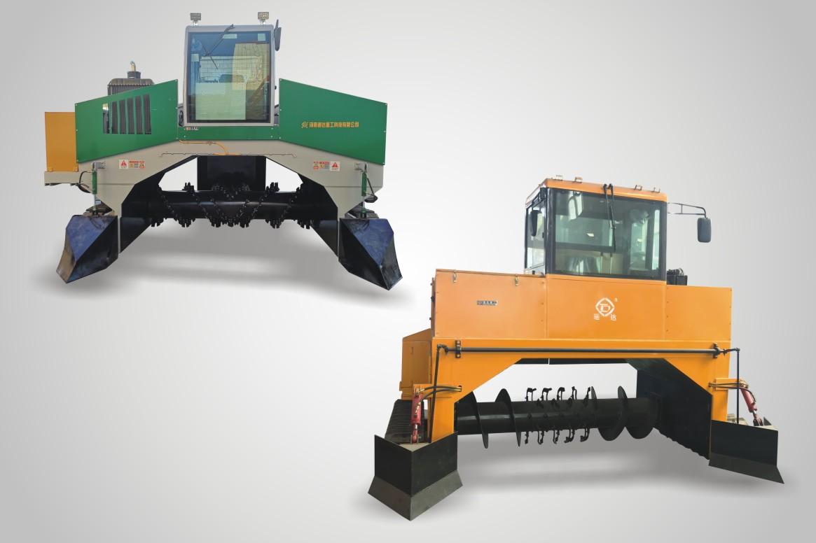 履带液压升降翻堆机工作原理,履带式翻堆机厂家报价多少钱