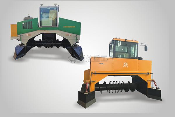 移动条垛式履带翻堆机特点,牛粪发酵有机肥翻抛机有什么优势